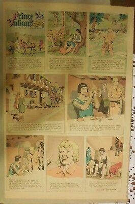 Prince Valiant Sunday by Hal Foster from 12/11/1966 Rare Full Page Size !