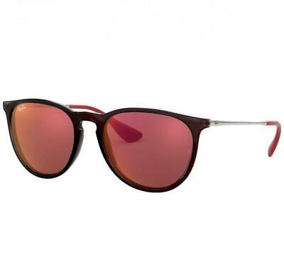 0c5495fbf7c Ray-Ban RB4171-6339D0 Erika Color Mix Brown Silver Aviator Dark Red  Sunglasses