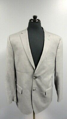 JOS. A. BANK Gray Checked Wool Lined Two Button Blazer Jacket Size 42R GG1056