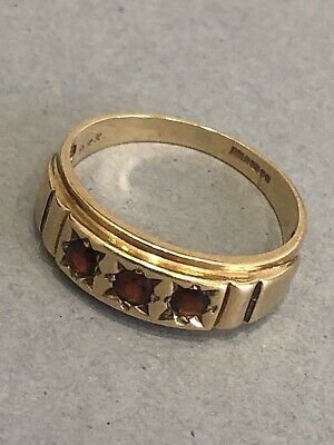 Beautiful 9ct Gold Ladies Ring Mounted Rock Cluster Fine Jewellery 220 Vintage