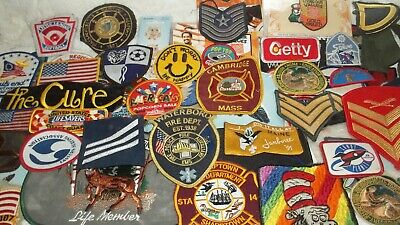 HUGE mixed Lot of 70 Plus Assorted Patches