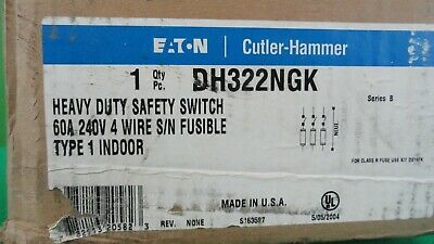 Cutler Hammer DH322NGK Safety Switch *New In Box*