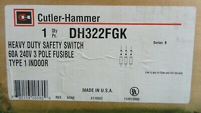 Cutler Hammer DH322FGK Safety Switch *New In Box*