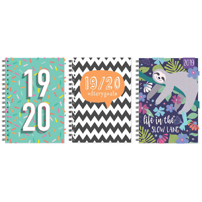 2019 2020 A5 Week to View Academic Mid year Spiral PVC Student Teacher Diary
