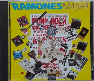 The Ramones Ramones Mania CD 1988 Sire Best Of 70s 80s Pinhead Blitzkrieg Bop
