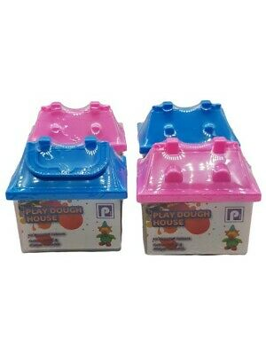 4 Play Dough House Tub Set Kids Creative Activities And Mould Fun