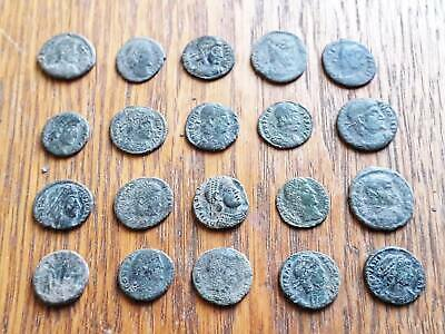 Beautiful Lot Of 20 Ancient Roman Coins For Cleaned