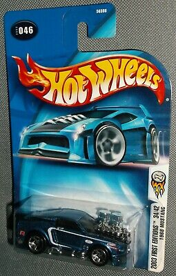 HOT WHEELS 2003  FIRST EDITIONS 1968 MUSTANG #046 BLUE