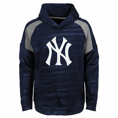 New York Yankees Youth Boys Clubhouse Pullover Hooded Sweatshirt - Navy