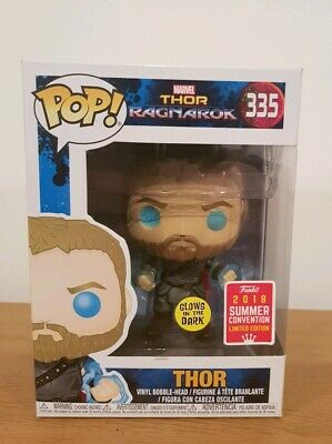 Thor Ragnarok #335 Thor Funko Pop! SDCC 2018 Exclusive with Protector Case