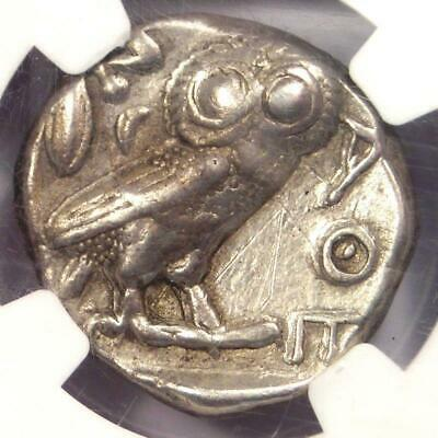 Ancient Athens Greece Athena Owl Tetradrachm Coin (440-404 BC) - NGC VF!