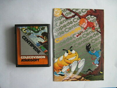 Centipede Colecovision Atarisoft Game with Manual *Cleaned & Tested*