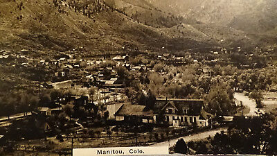Rppc Postcard  Manitou, Co  Buildings, 1St Settlers Mining Town View