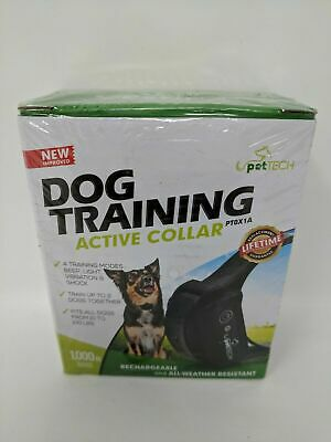 PetTech Dog Training Rechargeable Weather Resistant Active Collar NO REMOTE