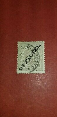 1875 Luxembourg Official Stamps Sc#O15 10c gray lilac used Ovprt.gen.?