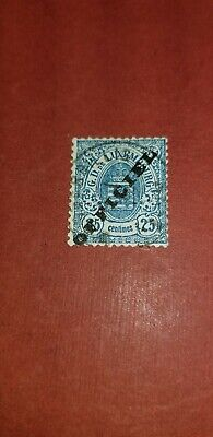1875 Luxembourg Official Stamps Sc#O18  25c blue  used Ovprt.gen.?