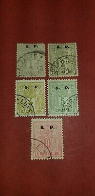 1882 Luxembourg Official Stamps Sc#O52-056(5) used