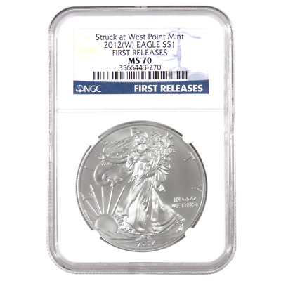 2012(W) $1 American Silver Eagle NGC MS70 First Releases