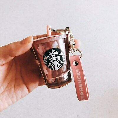 Starbucks Korea 2019 Cherry blossom coldcup key chain, Free Shipping+Tracking