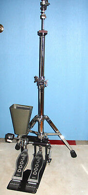 DW 5000 Series Dual Accessory Hi-Hat Cymbal Stand/Cowbell Mount IMMACULATE Cond.