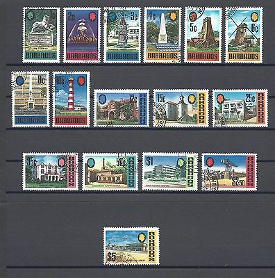 BARBADOS 1970 SG 399/414 USED Cat £24