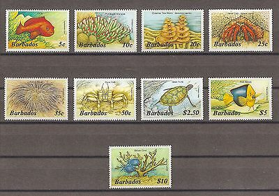 BARBADOS 1986 SG 796a/809a Fresh MNH Cat £27