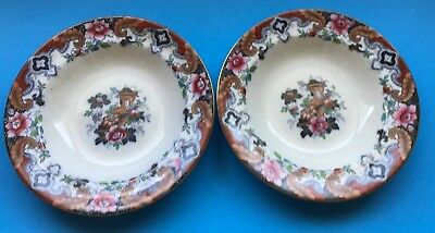 Pair of England Antique Bowls 1880's  Marked Brownfield
