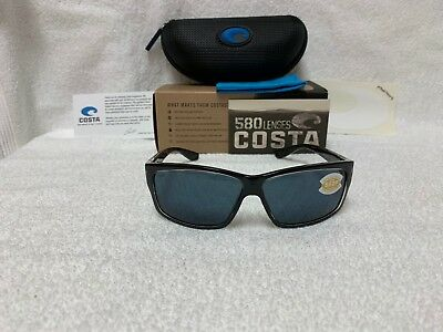 d068fbf2d3 NEW Costa Del Mar Cut Polarized Sunglasses Squall Black Gray 580P UT 47 OGP  580
