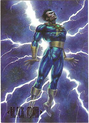Black Adam Collectible Card from 1994 SkyBox Master Series DC # 41