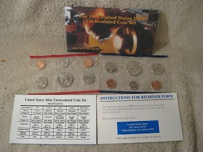 1995 UNCIRCULATED Genuine U.S. MINT SETS ISSUED BY U.S. MINT