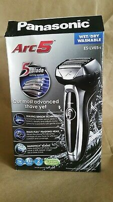 New! Panasonic Arc5 Wet/Dry 5-Blade Electric Shaver - ES-LV65-S