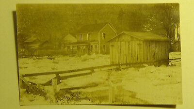 Postcard RPPC Ocean City Maryland  DISASTER FLOOD BUILDINGS TOWN VIEW 2