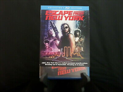 ESCAPE FROM NEW YORK   Blu-ray  Scream Factory  (w/rare OOP slipcover)