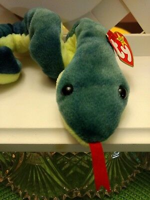 befd3491bbc TY BEANIE BABY ~ HISSY Snake ~ Retired with PE Pellets (1997 ...