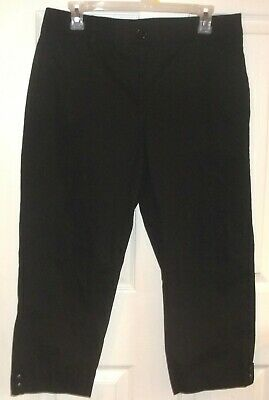 Womens COUNTERPARTS~BLACK Chinos CAPRIS~size 10~NEW~Cropped Pair Pants~STRETCH