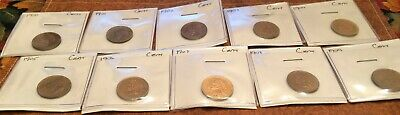 1900-1909 Indian Head Penny set (10 beautiful coins) perfect for collectors