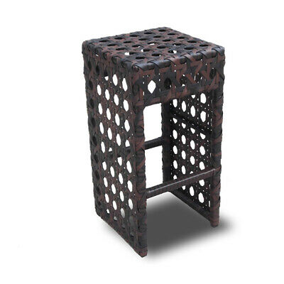 New! Woven Wicker Outdoor Bar Chair - Luxury Brown Rattan Barstool - Avon