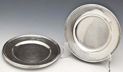 Set! 6 pc. International Sterling Silver Bread Dessert Plates Chargers H413