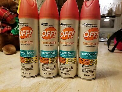 4 OFF! Family Care smooth & powder dry Insect Repellent 4oz Spray Mosquitoes
