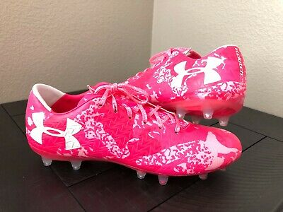 new styles 4123f 4e816 Men s Under Armour Clutchfit Force 3.0 FG Soccer Cleats Size 11 Pink  (1297548-66
