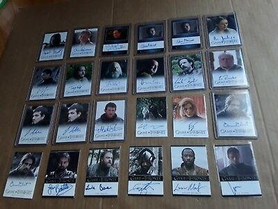 Game of Thrones Season 4 Auto Autograph Card Lot Selection Available
