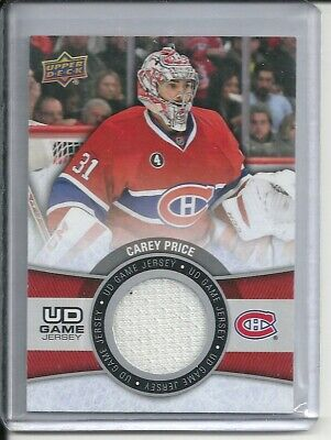 2015-2016 Upper Deck Series 1 UD Game Jersey #GJ-CP Carey Price (White Material)