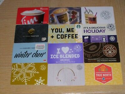Coffee   12 different new collectible gift cards.