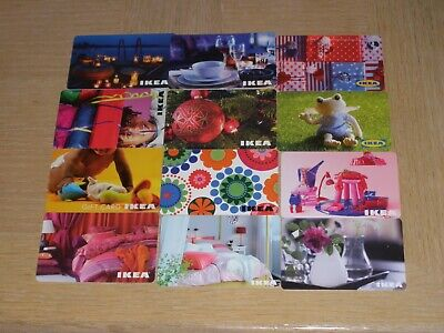 IKEA    12 dfferent new collectible gift cards