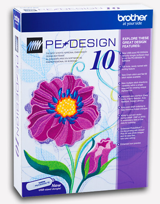 Brother PE Design 10 Embroidery Full Software + GIFTS - INSTANT DELIVERY 30s🔥