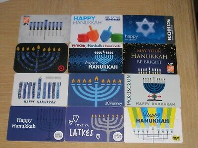 Hanukkah  12 different new collectible gift cards