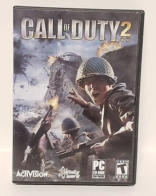 ACTIVISION Call of Duty 2 PC-CD ROM Video Game (6 Disc Set, 2005) Perfect Cond.