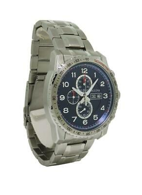 Bulova Marine Star 96C121 Men's Navy Blue Chronograph Day & Date Analog Watch