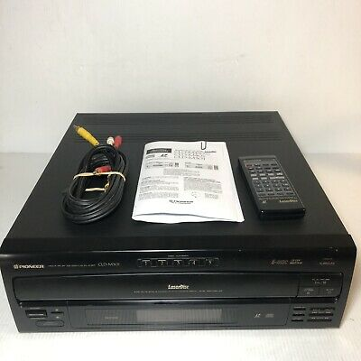 Pioneer Cld-M301 5 Cd Changer, Laser Disc Player With Remote.  Excellent.