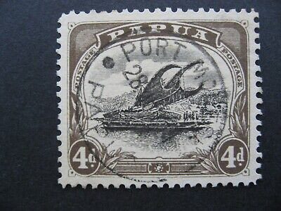 Papua Lakatoi, SG63a Used Deformed D CV $330.00 as per photos Nice example